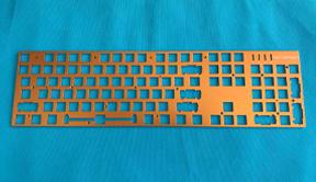 五金键盘铁板面板 上盖 拉丝面板加工