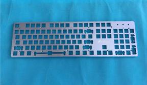 五金冲压键盘面板 铝合金键盘上盖 金属面板